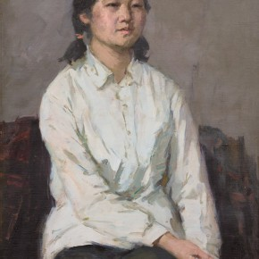 97 Ma Changli A Middle School Girl oil on linen 78 x 56 cm 1982 290x290 - Ma Changli