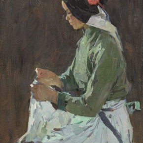 98 Ma Changli The Young Woman Sewing oil on cardboard 51.5 x 39.5 cm 1981 290x290 - Ma Changli