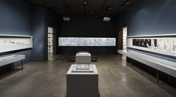 Installation view, The Language of Xu Bing, December 20, 2014 through July 26, 2015, Los Angeles County Museum of Art, photo © 2015 Museum Associates/LACMA