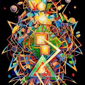 Sergey Dozhd, Comcreatis Abstracto, 2015; Oil on canvas,  200×140cm