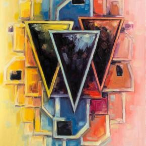 Sergey Dozhd, Dark Dominantes, 2013; Oil on canvas, 100×70cm