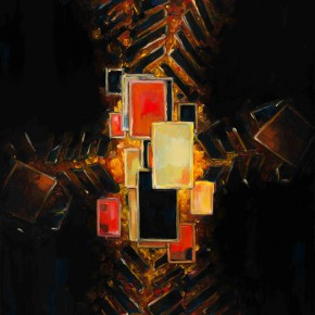 Sergey Dozhd, The Abstract Terror, 2014; Oil on canvas, oil paint,122×76cm