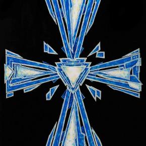 Sergey Dozhd, The Cross of Prophet, 2014; Oil on canvas, oil paint,100×70cm