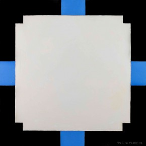 Sergey Dozhd, The Incised White Square, 2013; Oil on canvas, oil paint, 100×100cm