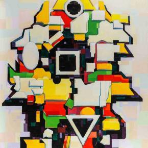 Sergey Dozhd, The Shadow of Idea, 2015; Oil on canvas, 180.2×126.2cm