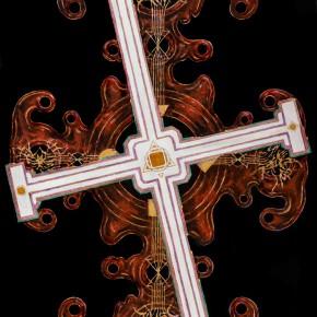 Sergey Dozhd, The Taboo Cross, 2014; Oil on canvas, 100×70cm