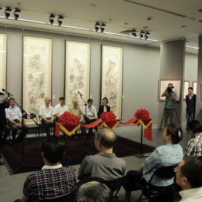 "01 View of the opening ceremony of the exhibition 290x290 - ""Leisure Brushwork and Treasures Left by the Predecessor – Retrospective of Qi Gong's Art"" Unveiled at Beijing Fine Art Academy"
