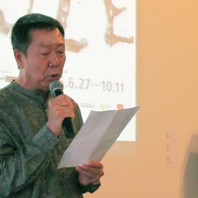 "02 Honorary President of OCAT Ren Kelei made a speech  290x290 - An Exhibition About Images of ""Memory"" – Beijing OCAT Institute Officially Opened"