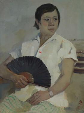 Wu Guanzhong, Zhu Biqin's Portrait, original