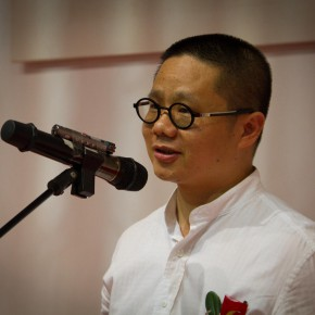 04 Artist Qiu Ting addressed the opening ceremony