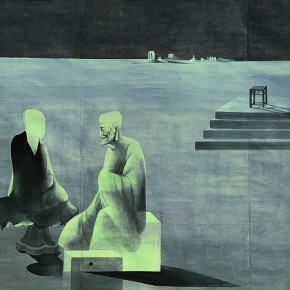 06 Shen Qin Dialogue between the Teacher and Disciple1 290x290 - Shen Qin's Solo Exhibition Showcasing His Recent Works in Suzhou Museum