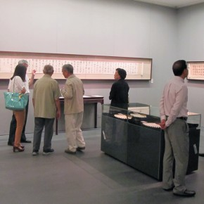 "09 Exhibition view of ""Leisure Brushwork and Treasures Left by the Predecessor - Retrospective of Qi Gong's Art"""