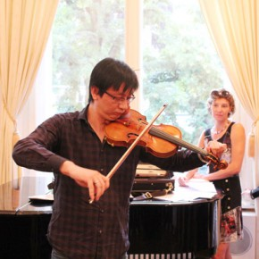 """09 Mr. Lu Wei Chief violinist of The Deutsches Symphonie Orchester Berlin gave a live performance in the opening ceremony 290x290 - Huang Yong's Solo Exhibition """"Food Game"""" debuted in Berlin, Playing """"Food Game"""" together with Texas Poker"""