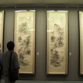 "14 Exhibition view of ""Leisure Brushwork and Treasures Left by the Predecessor - Retrospective of Qi Gong's Art"""