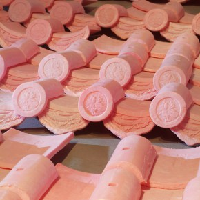 20 Jiang Jie, Above and Below, wax tiles, 490 x 770 cm, 2006