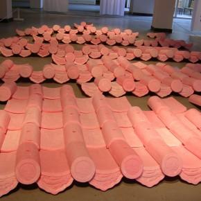 22 Jiang Jie, Above and Below, wax tiles, 490 x 770 cm, 2006