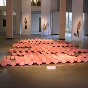 23 Jiang Jie, Above and Below, wax tiles, 490 x 770 cm, 2006