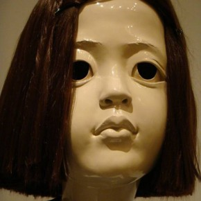 36 Jiang Jie, A Red Child, resin, paint spraying, synthetic hairs, 80cm, 2006