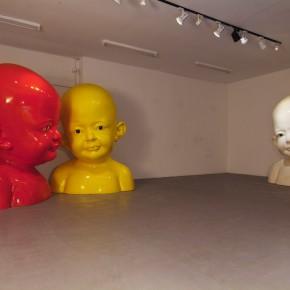 47 Jiang Jie, Zai, resin, paint, glass, 200 x 160 x 140 cm, 2001