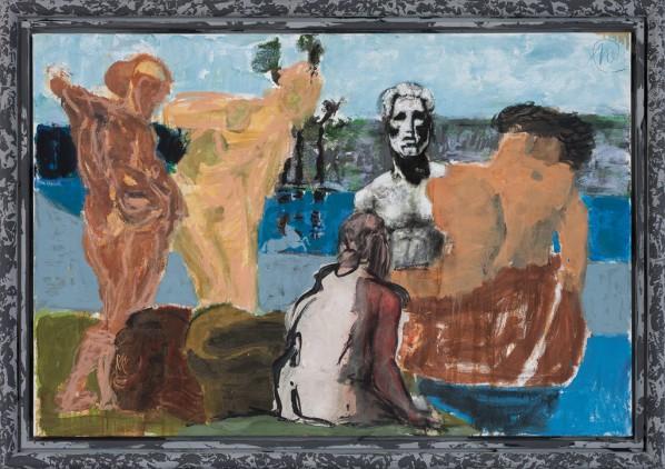 Markus Lüpertz, Arcadia - Farewell, 2013; Mixed media on canvas, 105 x 155 cm