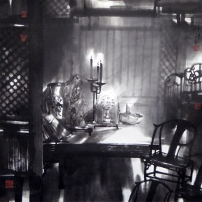 """Chen Hui Old House Time ink on paper 69 x 69 cm 2014 290x290 - """"The Art from the National Art Museum of China"""" Debuted in Mexico"""