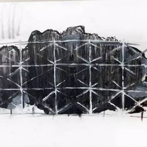 Draft of Site specific work for the gallery space by Sui Jianguo 290x290 - The Exhibition of New Work by Sui Jianguo Unveiled at Pace Beijing