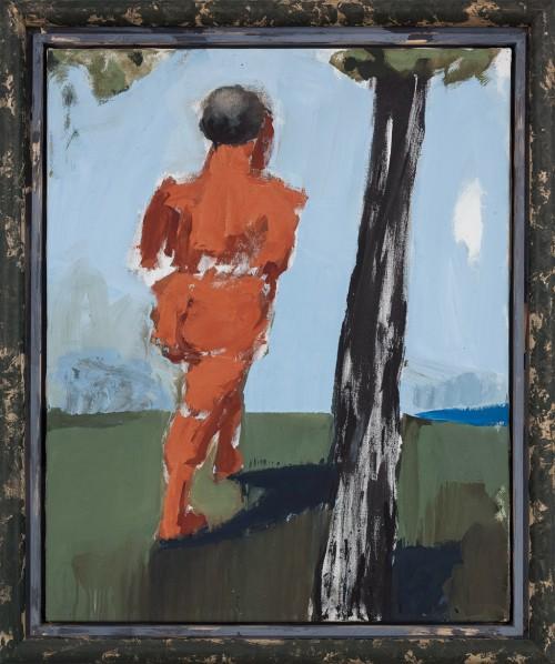 Markus Lüpertz, Abkehr I (Adam), 100 x 81 cm, oil on canvas, 2008