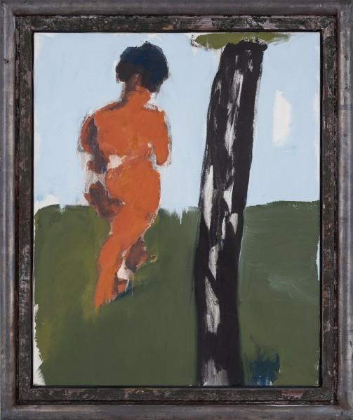 Markus Lüpertz, Abkehr I (Eva), oil on canvas, 100 x 81 cm, 2008