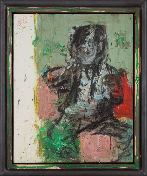 Markus Lüpertz, After Goya  Between Red and Green, 2002; Oil on canvas, 100 x 81 cm