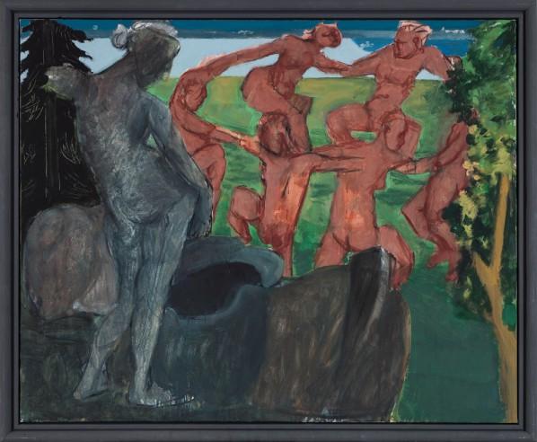 Markus Lüpertz,  Arcadia – Round Dance, 2013; Mixed media on canvas, 162 x 200 cm