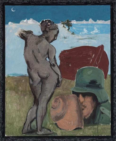 Markus Lüpertz, Arcadia - Soldier, 2013; Mixed media on canvas, 200 x 162 cm