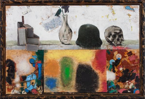 Markus Lüpertz, TeltowerTisch, oil on board, cardboard, 2010