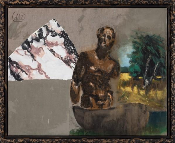 Markus Lüpertz, Ulysses, mixed media, oil on canvas, 130 x 162 cm, 2012