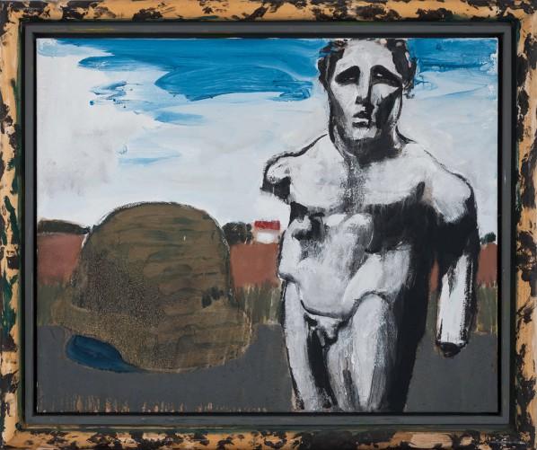 Markus Lüpertz, Ulysses, mixed media, oil on canvas, 81 x 100 cm, 2011