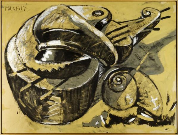 Markus Lüpertz, Untitled, gouache