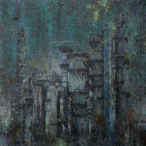 Peng Tao Melanosis 2015 painting 170x170cm 290x290 - Hive•Becoming XII Invisible Cities: Peng Tao Solo Exhibition Opening August 1