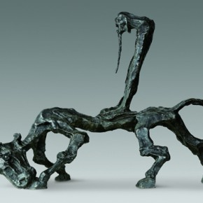 """Wu Weishan The Sound of the Empty Valley – Lao Tzu Walked Away from the Pass bronze 93 x 33 x 74 cm 2012 290x290 - """"The Art from the National Art Museum of China"""" Debuted in Mexico"""