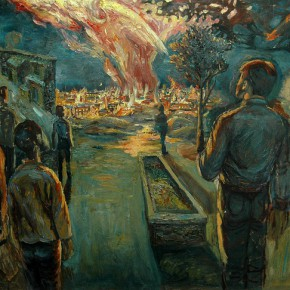 01 Li Yang, The Fire for the Phoenix's Nirvana, oil on canvas, 70 x 80 cm, 1996