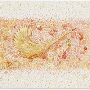 04 Li Yang, Childhood's Dream the Wild Goose Channel, watercolor on paper, 40 x 50 cm, 2013