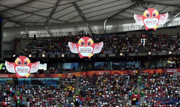 "04 The mascot ""Yan'er""at the opening the 15th IAAF World Athletics Championships"