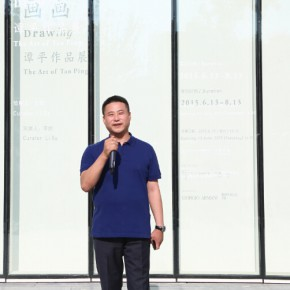 05 Wang Jie, Chairman of Ginkgo Art Center addressed the opening ceremony