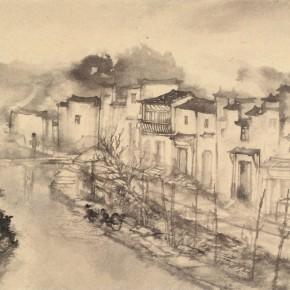 08 Qiu Ting, Sketch in Likeng, 66.5 x 44 cm, 2014