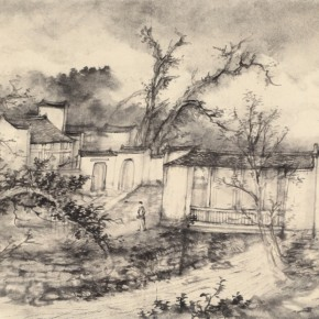11 Qiu Ting, The Sketch of Huang Village, 66.5 x 44 cm, 2014