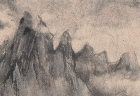 18 Qiu Ting, Misty and Rain in Guilin Figure, ink on paper, 90 x 14 cm, 2012