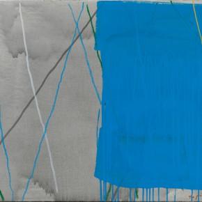31 Tan Ping, The Intruder – Blue, acrylic on canvas, 80 x 100 cm, 2015