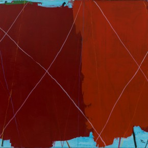 32 Tan Ping, The Intruder – Red, acrylic on canvas, 160 x 200 cm, 2015