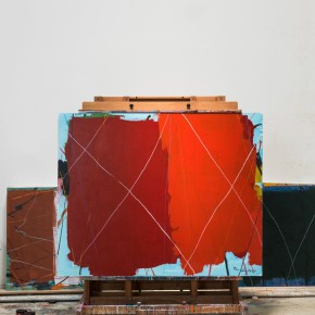 33 Tan Ping, The Intruder – Red, acrylic on canvas, 160 x 200 cm, 2015 (scene-graph)