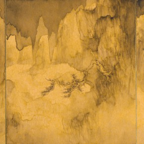 59 Qiu Ting, The Stone Mountains, 40 x 90 cm, 2015