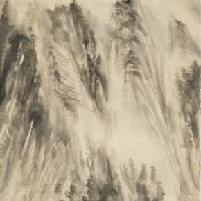 60 Qiu Ting, Snow of Taihang Mountains No.2, 142 x 72 cm, 2015