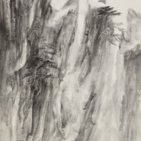 62 Qiu Ting, Mount Huang is My Teacher, 168 x 92 cm, 2014